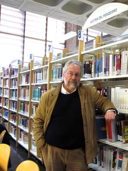 Pedro Sorela en la Facultad de Ciencias de la Información de la Complutense © karina beltrán. 2013