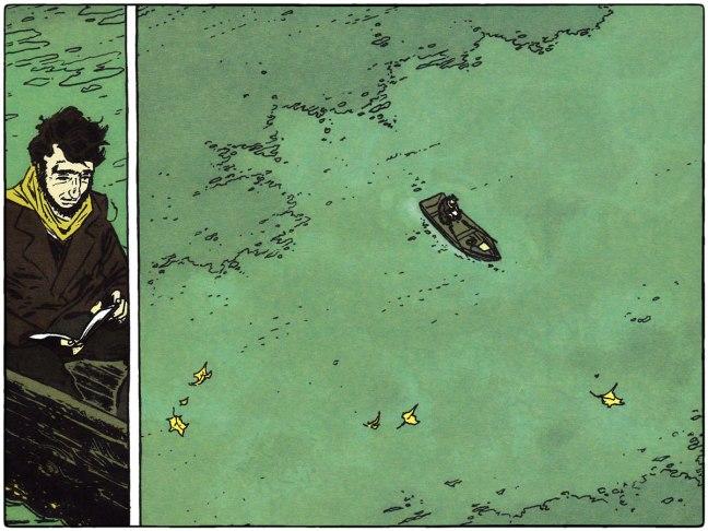 Viñeta del dibujante A.Dan en el Libro-Comic sobre Henry David Thoreau