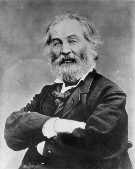 Walt Whitman, poet and writer-philospher. Classic photo MUST CREDIT by Matthew Brady.