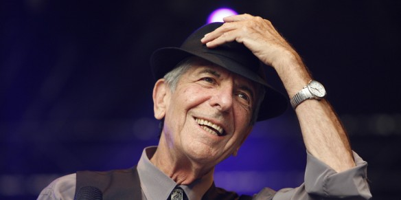 Canadian rock-poet Leonard Cohen performs during his first ever show in Germany within the scope of his Europe tour in Loerrach, Germany, 25 July 2008. The 73-year-old gave his concert in front of 5,000 fans during the city's 'Stimmen' (voices) Festival. Cohen's show was already sold out mid-June. It is his first tour in 15 years. Photo: Rolf Haid | usage worldwide